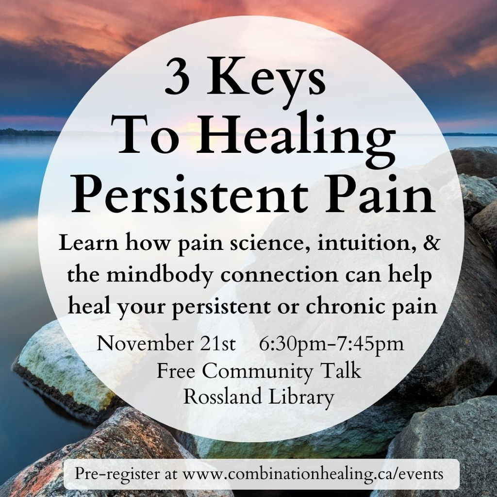 Healing chronic pain talk poster